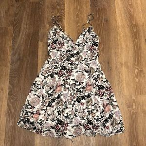 Floral, Lace up Back, Fit and Flare dress NWOT